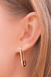Safe With Me Earrings - Gold