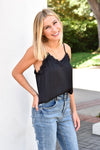 Embrace The Lace Tank - Black