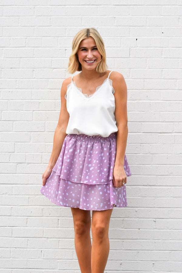 All The Sweet Things Skirt - Lavender