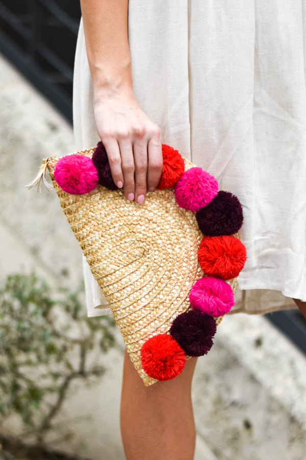 Oh So Cute! Pom Pom Clutch