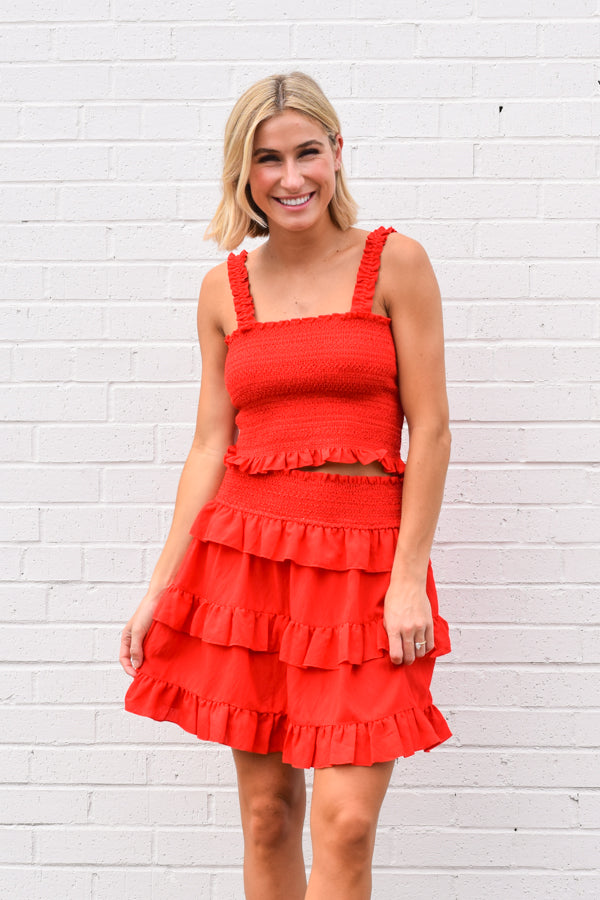 Red-y For Summer Top