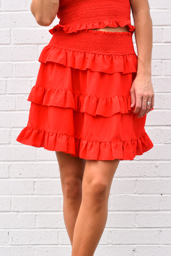 Red-y For Summer Skirt