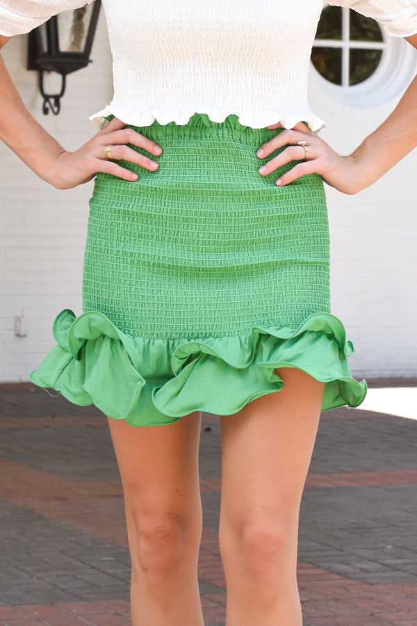 Pretty Little Thing Skirt - Green