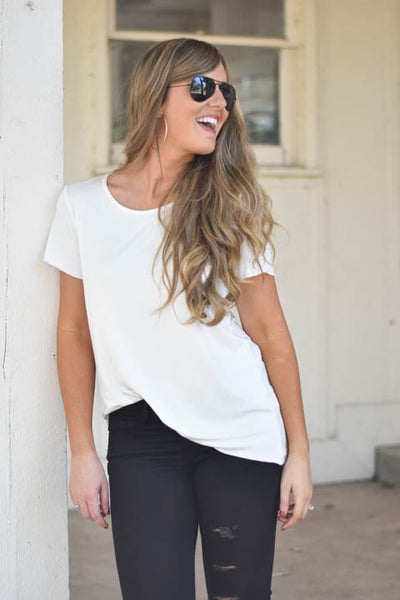 Anything But Basic White Tee