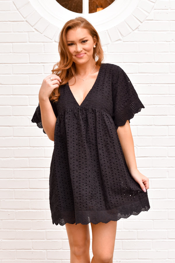 So Sassy Babydoll Romper - Black