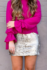 All That Glitters Mini Skirt