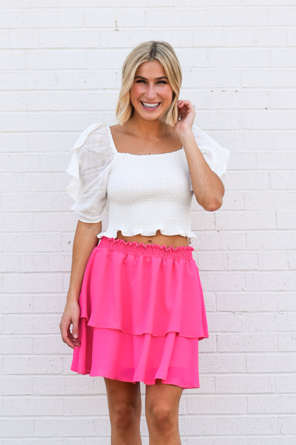 Future Is Bright Skirt - Fuchsia
