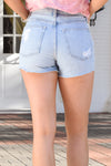 Feeling Good Denim Shorts - Light Wash