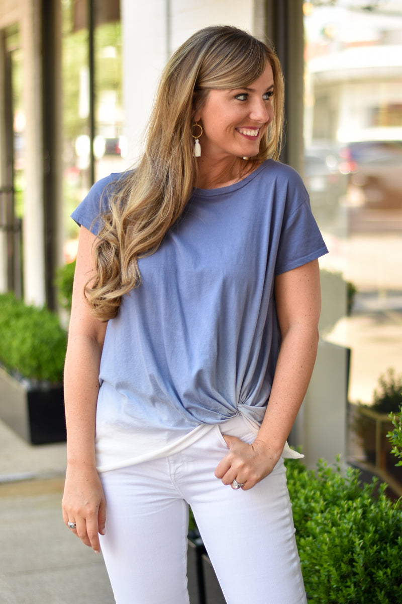 Ombré My Way Knotted Tee