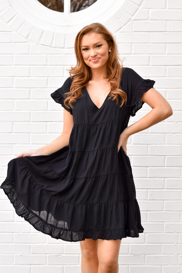 Feel The Love Dress - Black