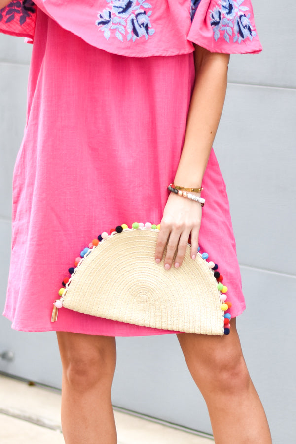 Let's Taco 'Bout It! Pom Pom Clutch