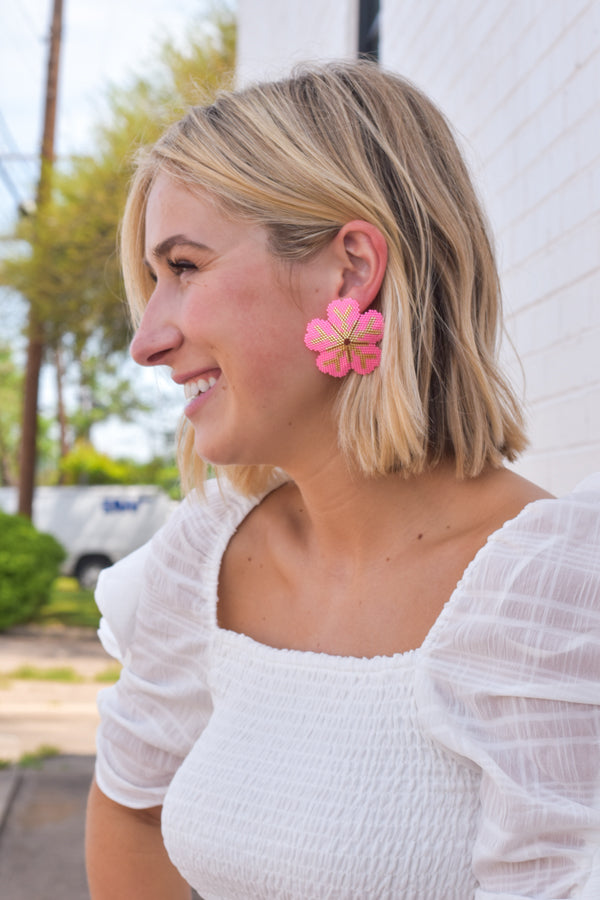 Hanging Out Earrings - Pink