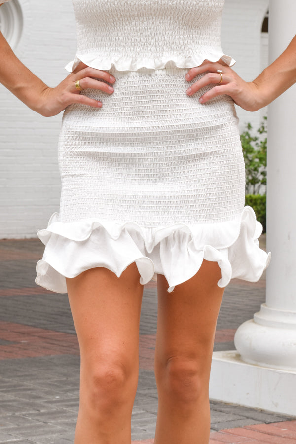 Pretty Little Thing Skirt - White