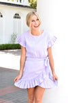 Wrap Around Ruffle Dress - Lavender