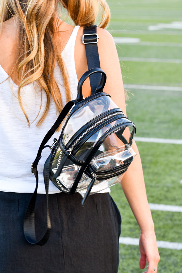 Clear Gameday Backpack- Black