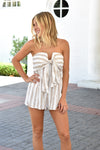 Sand Daze Striped Romper