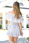 Walk The Line Ruffle Dress