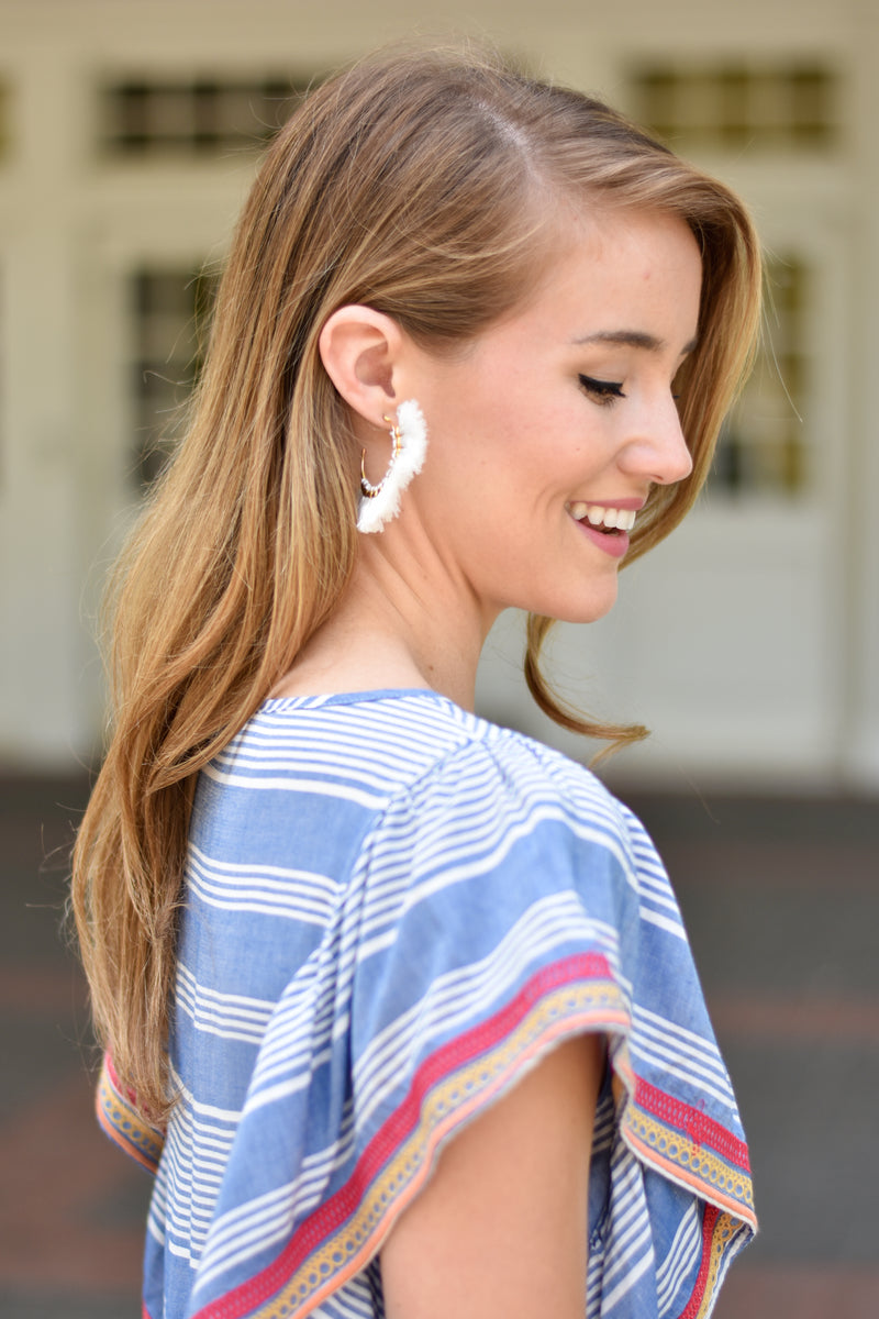 Tantalizing Tassel Earrings - White