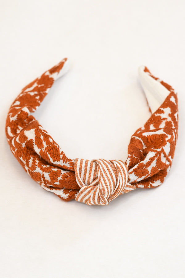 PRE-ORDER The Guadalupe Headband - Burnt Orange