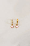 Make A Wish Huggie Earrings - Pale Pink