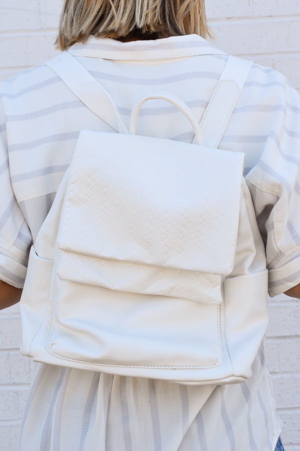 Ready to Go Backpack - White