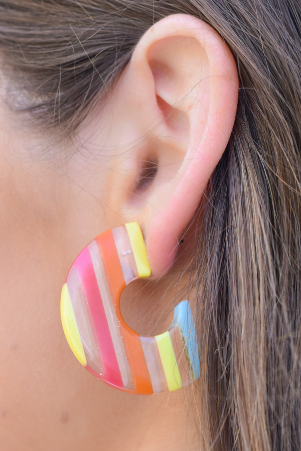 Tropical Crush Earrings - Rainbow