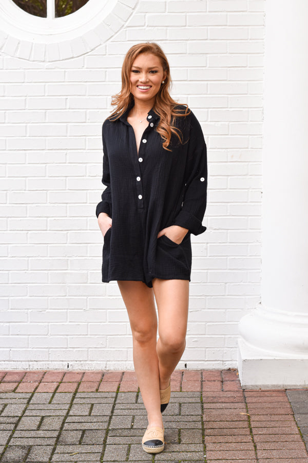 Seriously Fun Romper - Black