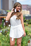 White The Way Romper