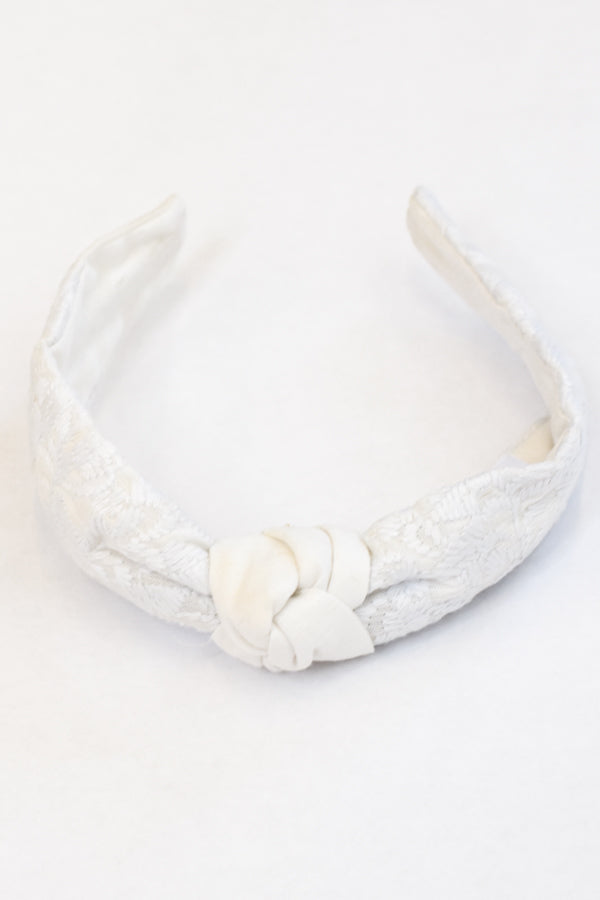 PRE-ORDER The Mona Headband - White