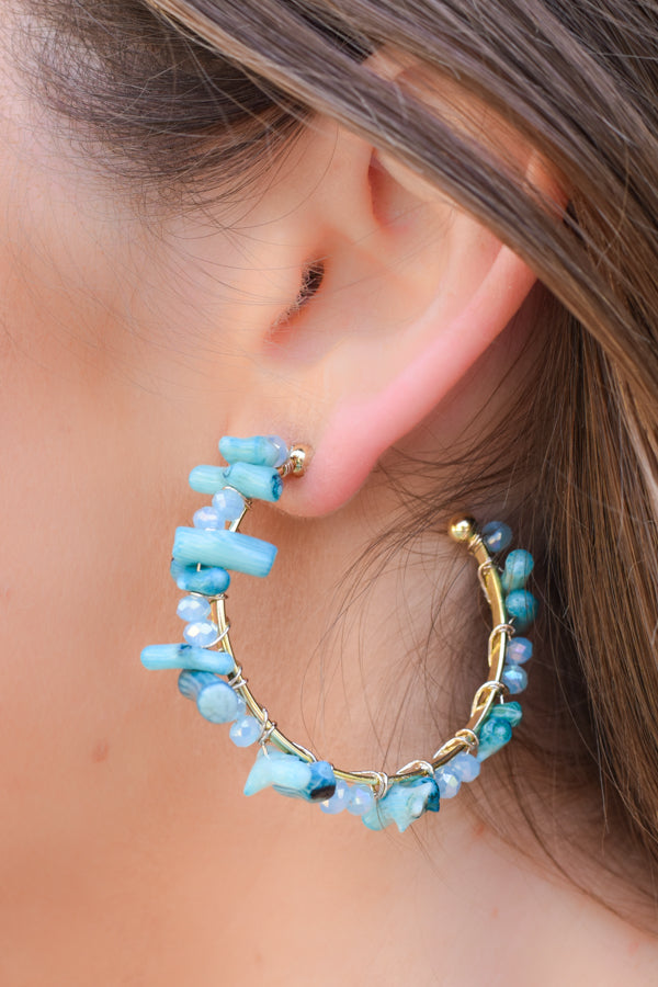 In The Islands Earrings - Turquoise