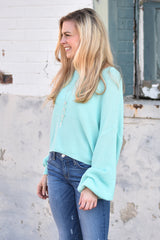 Color Me Bright Crop Sweater - Mint