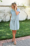 Summer Stroll Chambray Dress