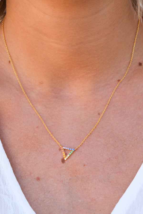 Over The Rainbow Necklace - Gold