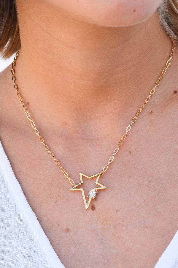 Star Light Lock Choker - Gold