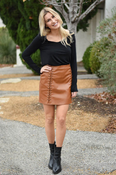 Dream On Lace Up Skirt