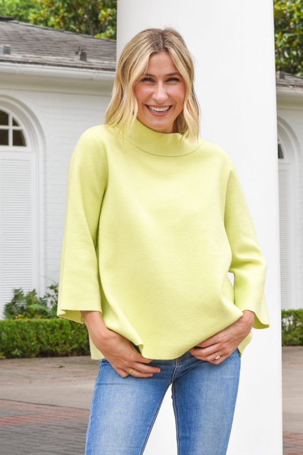 Sun City Knit Sweater - Lime