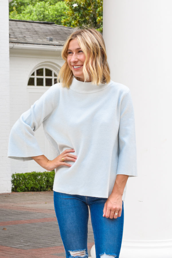 Sun City Knit Sweater - Sky Blue