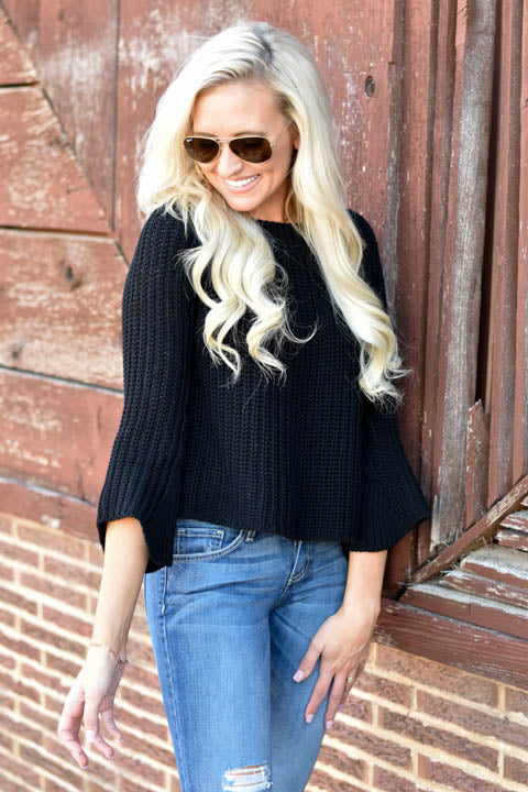 Black Fall State Of Mind Sweater