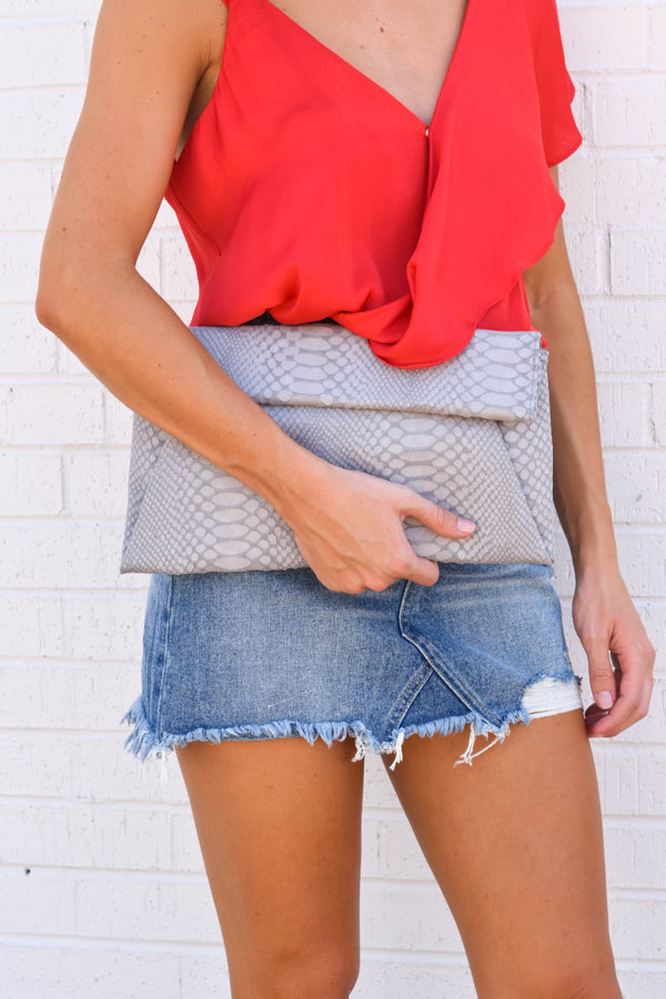 Plus One Clutch - Grey