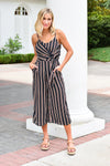 Simply Striped Jumpsuit