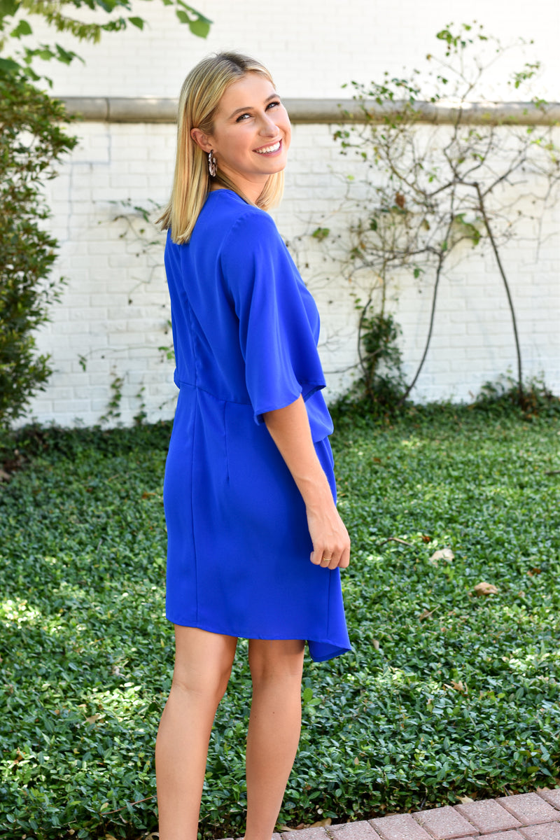 Tied And True Blue Dress