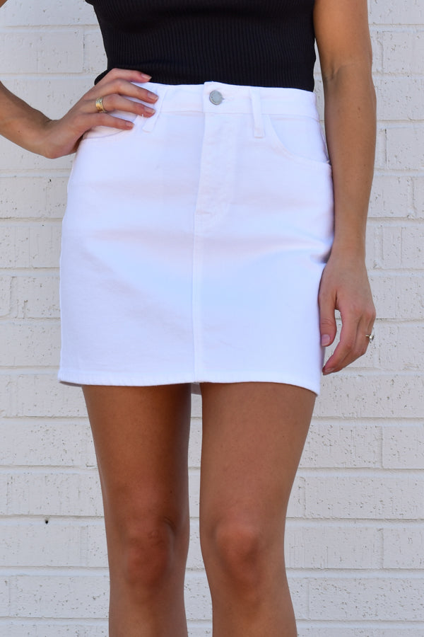 Your Favorite Denim Skirt - White
