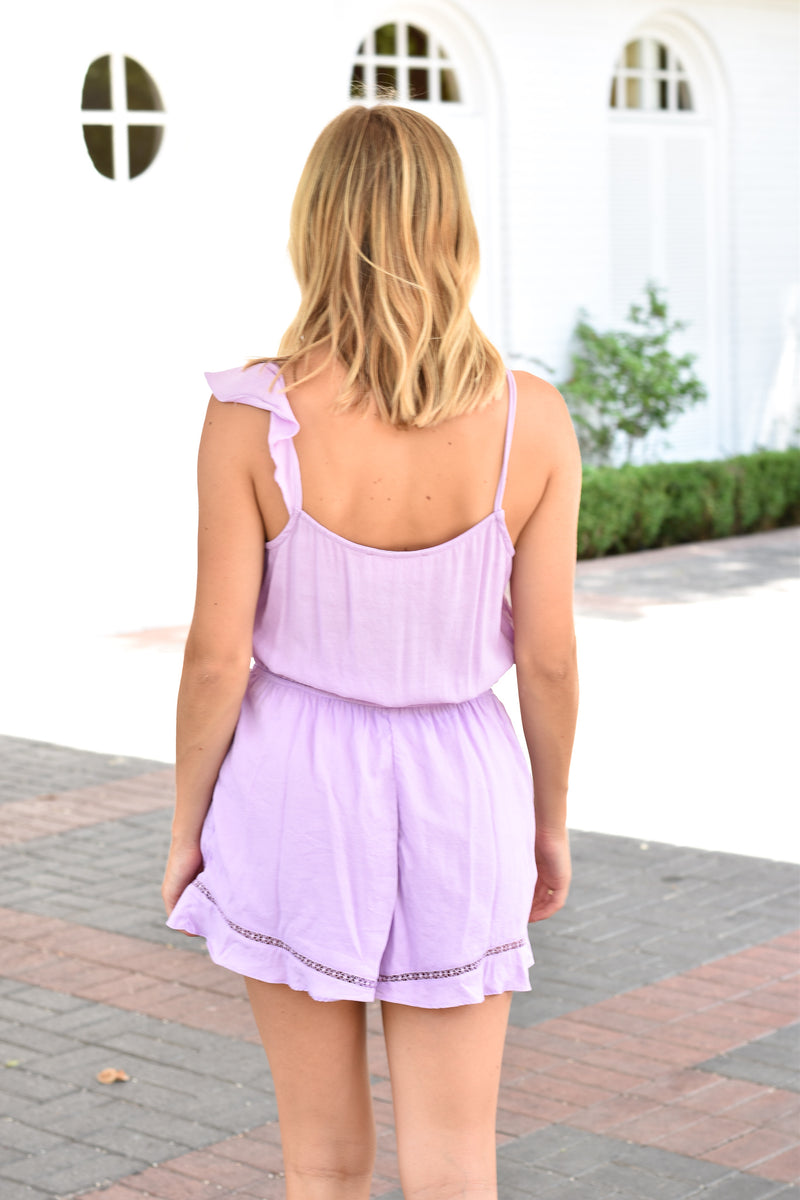 Pretty In Purple Romper