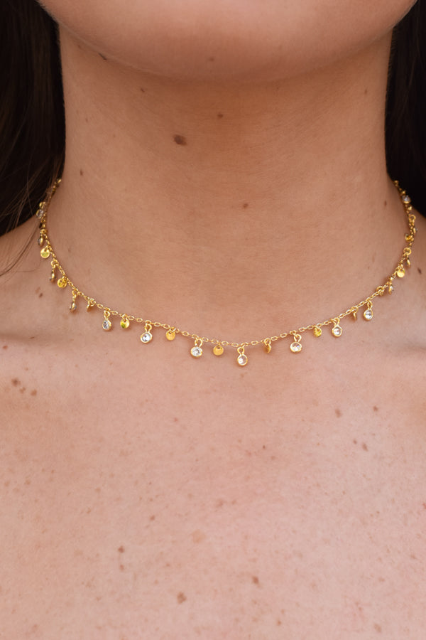 Drip Drop Choker - Gold