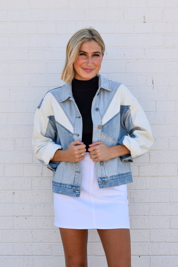 Pistola Willow Colorblock Denim Jacket - Transitions