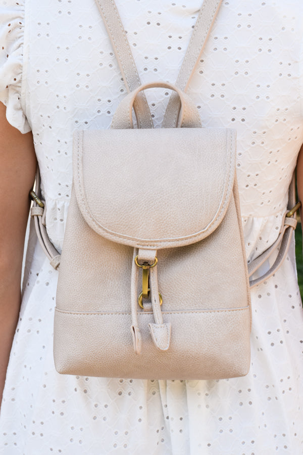 Carried Away Mini Backpack - Ivory