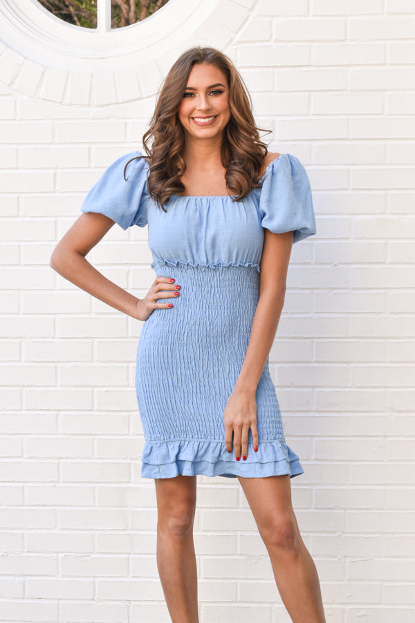 Toast Of The Town Dress - Blue