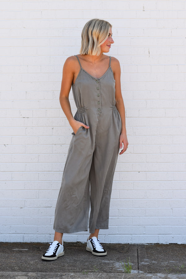 Everyday Jumpsuit - Slate Green