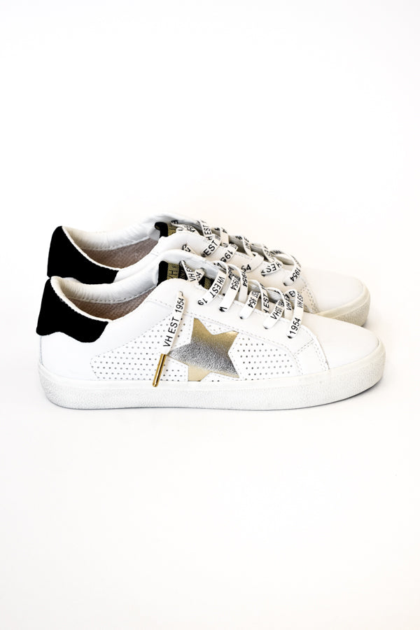 Gadol Sneaker - White/ Gold Multi