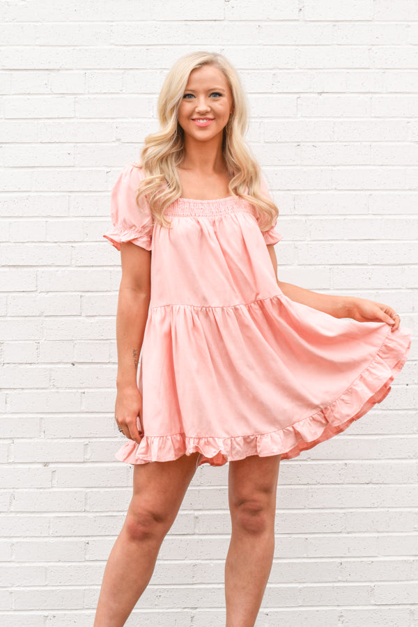 What A Doll Dress - Blush